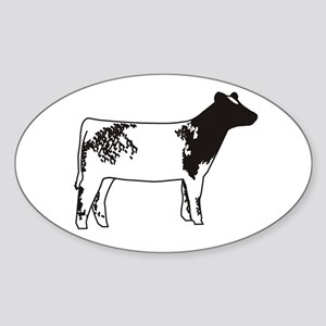 More Shorthorn Oval Sticker