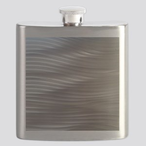 Golden Metal Waves Flask