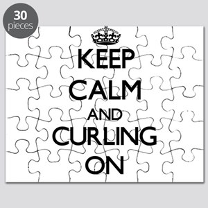 Keep calm and Curling ON Puzzle