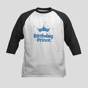 1st Birthday Prince! Kids Baseball Jersey