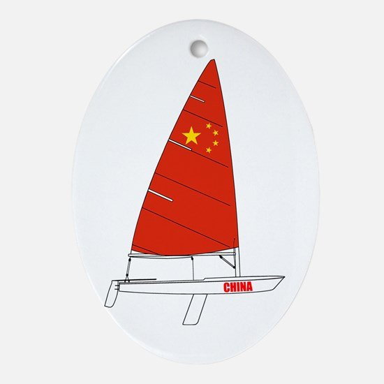 China Dinghy Sailing Ornament (Oval)