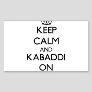 Keep calm and Kabaddi ON Sticker