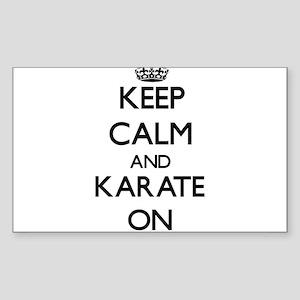 Keep calm and Karate ON Sticker