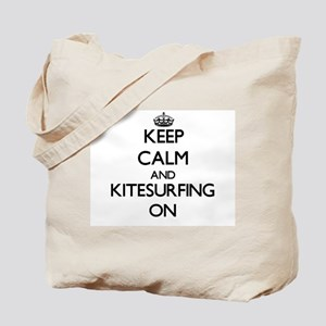 Keep calm and Kitesurfing ON Tote Bag