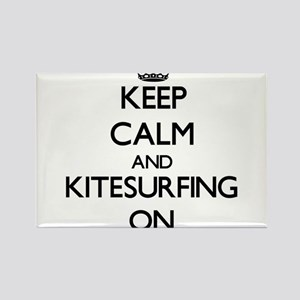 Keep calm and Kitesurfing ON Magnets