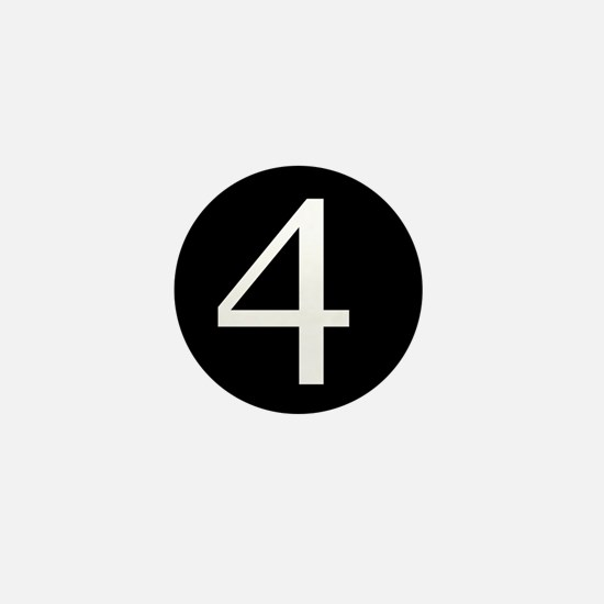 Number 4 Mini Button