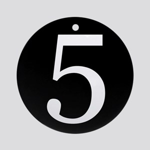 Number 5 Ornament (Round)