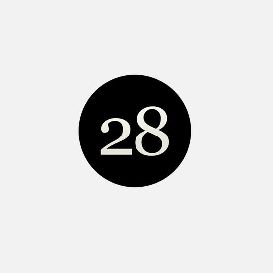 Number 28 Mini Button