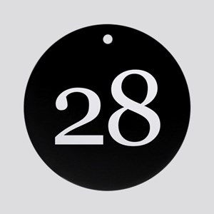 Number 28 Ornament (Round)