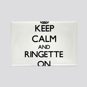 Keep calm and Ringette ON Magnets