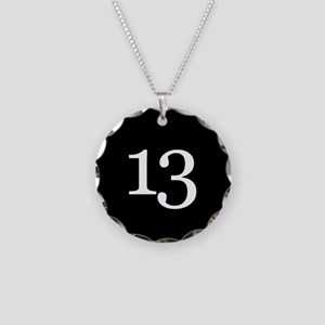 Number 13 Necklace Circle Charm