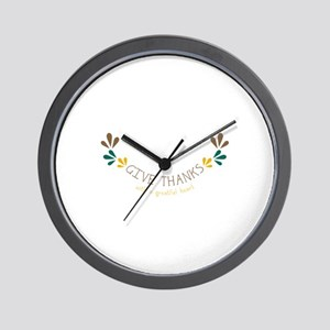 With a Greatful heart Wall Clock