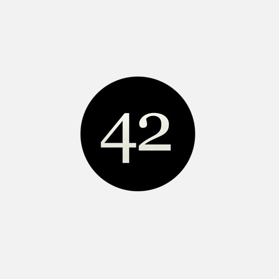 Number 42 Mini Button