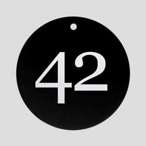 Number 42 Ornament (Round)