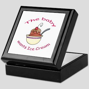BABY WANTS ICE CREAM Keepsake Box