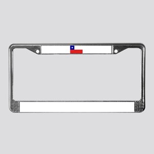 Chilean Flag License Plate Frame