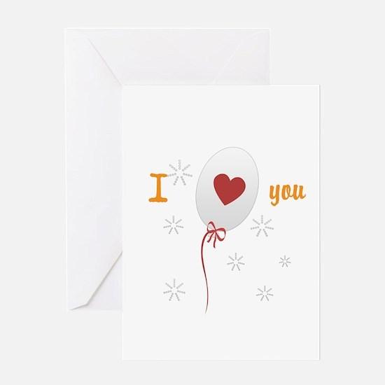 Love I Heart You Greeting Card
