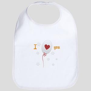 Love I Heart You Bib
