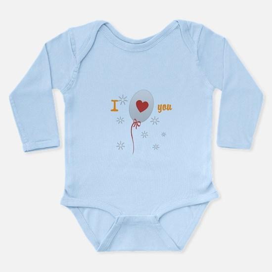 Love I Heart You Long Sleeve Infant Bodysuit