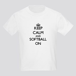 Keep calm and Softball ON T-Shirt