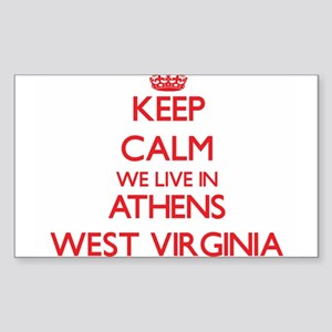 Keep calm we live in Athens West Virginia Sticker