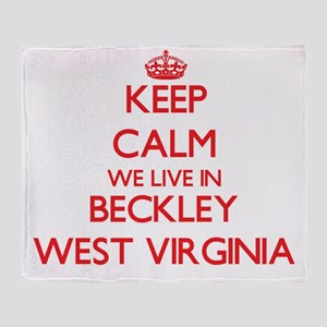 Keep calm we live in Beckley West Vi Throw Blanket