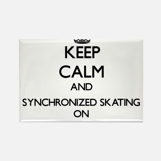 Keep calm and Synchronized Skating ON Magnets