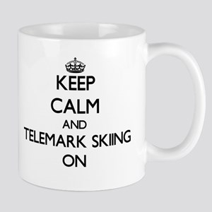Keep calm and Telemark Skiing ON Mugs