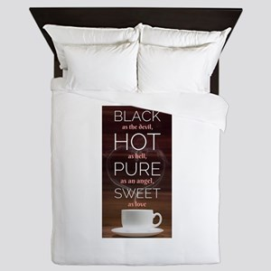 A cup of coffee tells you Queen Duvet