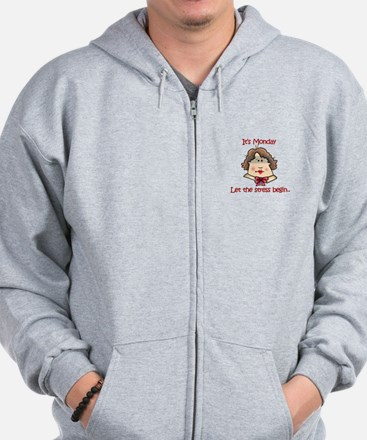 ITS MONDAY Zip Hoodie
