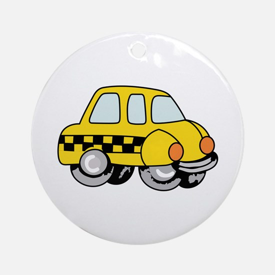 TAXI CAB Ornament (Round)