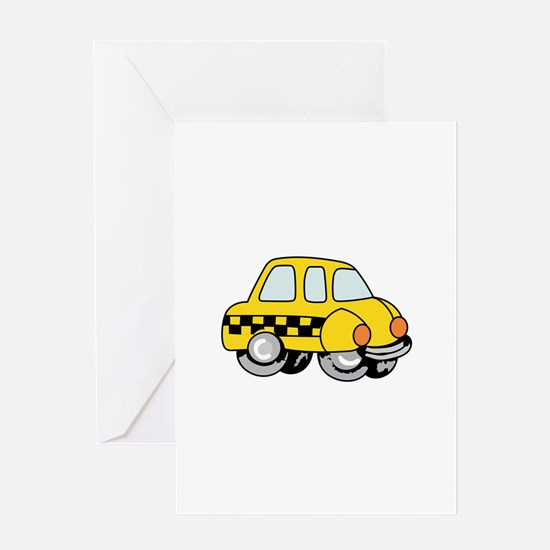 TAXI CAB Greeting Cards