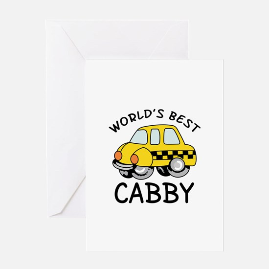 WORLDS BEST CABBY Greeting Cards