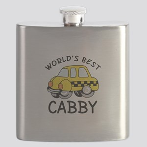 WORLDS BEST CABBY Flask