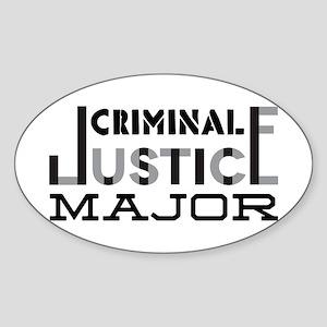 Criminal Justice Major Sticker