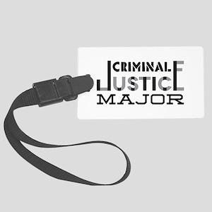 Criminal Justice Major Luggage Tag