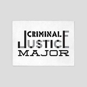 Criminal Justice Major 5'x7'Area Rug