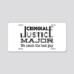 Bad Guy Aluminum License Plate