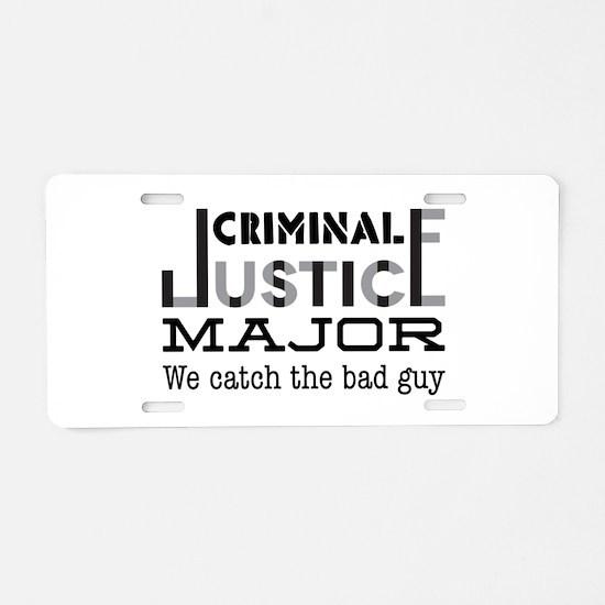 Bad Guy Aluminum License Plate