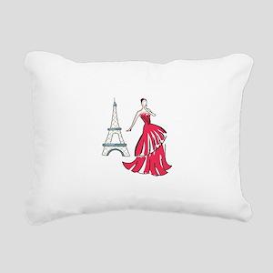 PARIS FASHION MODEL Rectangular Canvas Pillow