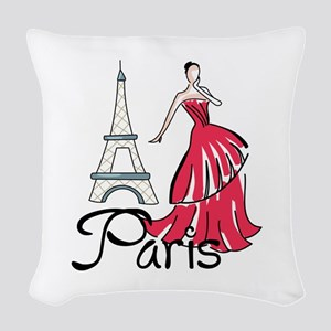 PARIS MODEL Woven Throw Pillow