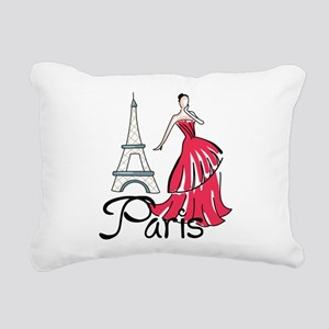 PARIS MODEL Rectangular Canvas Pillow