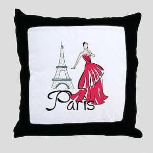 PARIS MODEL Throw Pillow