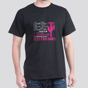 Only Strong Girls Become Electricians T Sh T-Shirt