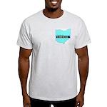 Ash Gray T-Shirt for a True Blue Ohio LIBERAL