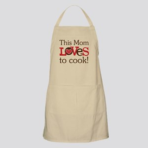 Mom Loves To Cook Apron