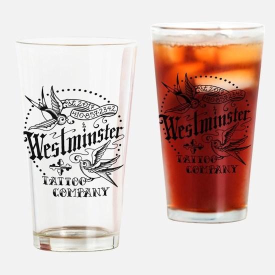 westminstertattoocompanylogobirds Drinking Glass