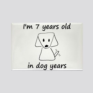 1 dog years 6 - 2 Magnets