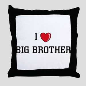 I Love BB Throw Pillow