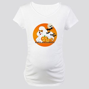 White Poodle Maternity T-Shirt
